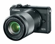 Canon Eos M100 Mirrorless Camera 15-45mm Lens And 55-200mm Lens Wi-fi Bluetooth