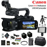 Canon Xa45 Professional Uhd 4k Camcorder 3665c002 W/extra Battery Soft Padded