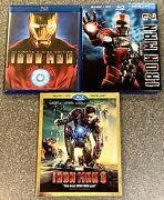 Iron Man 1, 2 And 3 Blu-ray And Dvd Sets - Fully Tested With Free Shipping