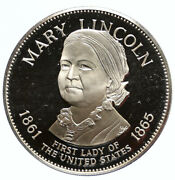 1972 Fm Us Usa White House First Lady Mary Lincoln Old Proof Silver Medal I95818