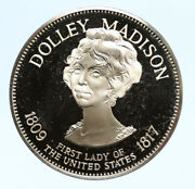 1972 Fm Us Usa White House First Lady Dolley Madison Proof Silver Medal I95820