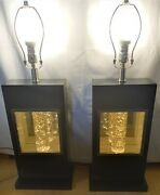Set Of 2 Anthony California Rectangle Table Lamps With Glitter