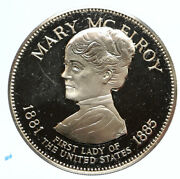 1972 Fm Us Usa White House First Lady Mary Mcelroy Old Proof Silver Medal I95827
