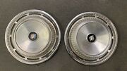 Lot Of 2 Buick 1960s Vintage Hubcaps Dog Dish Wheel Covers Metal