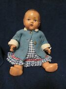 Antique Composition Baby Drink And Wet Doll By Canadian Company Reliable Toys
