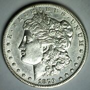 1879 Cc Morgan Silver Dollar 1 Us Dollar Coin Au Almost Uncirculated Cleaned