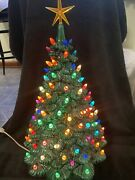Vintage Lighted Ceramic Christmas Tree 19andrdquo With 125 Lights