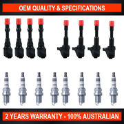 Pack Of Swan Ignition Coils And Ngk Iridium Spark Plugs For Honda Jazz 1.3l