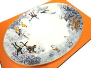Hermes Platter Oval Plate Carnets Dand039equateur Tableware Animal Ornament Auth New