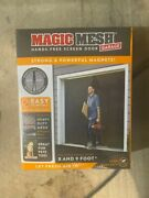 Single Car Garage Door Screen Mosquito Mesh Net Magnetic Closure Insects 8-9x7..