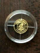 14k Birth Of Our Nation In Gold Commemorative Mini-coin By American Mint