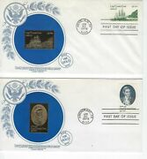 1978 First Day Cover And Gold Replica Stamp 1732-3 Captain Cook  Set Of 2
