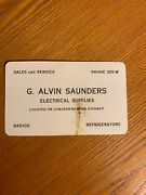 Early 1900s G. Alvin Saunders Elec. Sup Conover-newton Hwy Nc Business Card
