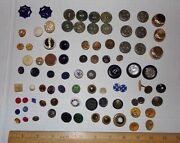 Vintage Antique Glass Metal Plastic Sewing Buttons Assorted Lot