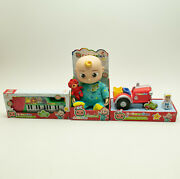 Cocomelon Musical Bedtime Jj Doll Tractor And Keyboard Bundle