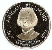 1972 Fm Us Usa White House First Lady Abigail Fillmore Proof Silver Medal I95813