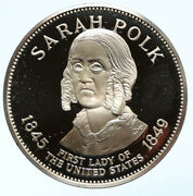 1972 Fm Us Usa White House First Lady Sarah Polk Old Proof Silver Medal I95815