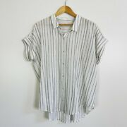 Eileen Fisher Organic Cotton Short Sleeve Top Womenand039s Size Large