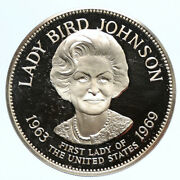 1972fm Us Usa White House First Lady Lady Bird Johnson Proof Silver Medal I95833