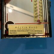 Melvin Ward Advertising Thermometer Mirror Wilmington Il Dial 2513