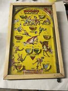 Vintage Poosh-m-up's Rodeo Bagatelle Game