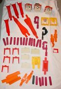 Huge Vintage Lot Of 1960and039s Hot Wheels Track Parts - See All Photos And Details