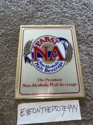Vintage Pabst Na Non-alcoholic Beer Mirror Sign Framed 10x13 413a