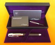 S. T. Dupont Paris Olympio Brand Fountain Pen Large Brown Leather