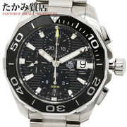 Tag Heuer Aquaracer Chrono Caliber 16 Cay211a-0 Menand039s From Japan N0914
