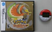 Nintendo Ds Pokemon Heartgold Version Authentic With Pokewalker Not For Resale