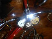 Stewart Warner Bicycle Speedometer And Clock Console Metal Usa For 26 Bicycle