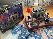 Lemax Spooky Town Collection Mausoleum Halloween Animated Display Rare Set