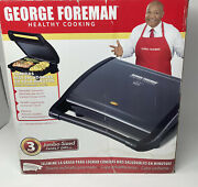 George Foreman Jumbo-sized Family Grill With Drip Tray Model Grv120gm