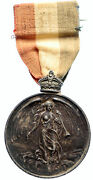 1910 England Lord Strathcona Imperial Choir Antique Silver Ribbon Medal I95925