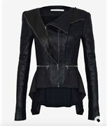 Willow Black Lacquer Leather Zip Jacket 4