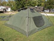 Military Surplus Soldier Crew Tent Army Self Standing Camping -10 X10 -- Camp Us