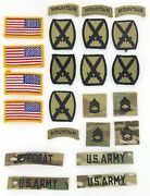 Us Army Multicam Ocp Patch Lot 10th Mountain Division Flag Sfc Rank Name Tape