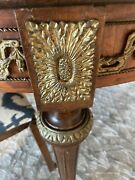 Beautiful Antique French Louis Xvi Table With Gilt Bronze Ormolu