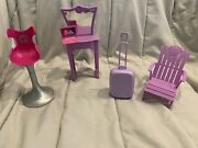Barbie Malibu Dream House 2010 Replacement Furniture And More Mixed Lot 5 Pieces