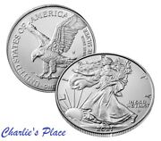 2021-w American Eagle Silver One Ounce Uncirculated Burnished Coin Type 2