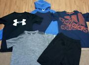 Youth Boys Size 10/12 Clothes Lot Adidas Under Armour Yl All☆converse Hoodie