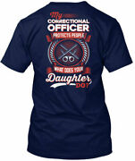 Proud Correctional Officers Mom My Officer Protects Gildan Tee T-shirt