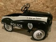 Vintage 1950s Police Cruiser 54 Instep Peddle Car Free S/h Usa Wow