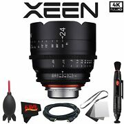 Rokinon Xeen 24mm T1.5 Lens For Canon Ef Mount With Professional Accessory Kit