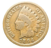 1894 Us Indian Head Cent Penny | Exact Coin | Free Shipping 8277