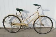 Vintage 1970s Amf Yellow Prestige Bicycle Made In Arkansas