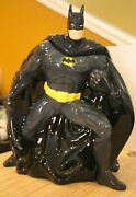 Big Bang Theory Batman Cookie Jar Excellent Condition - Very Hard To Find