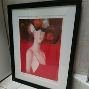 Vintage Janusz De Rola Carmen Lithograph Purchased Years Ago At Auction Signed