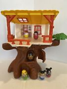 Vintage Hasbro Weeble Wobble Plastic Tree House Play Set With 6 Weebles