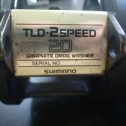 Shimano Tld 20 2 Speed Fishing Reel W/ Upgraded New Tld 20a Style Handle